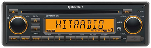 CD7416U–OR Continental Radio