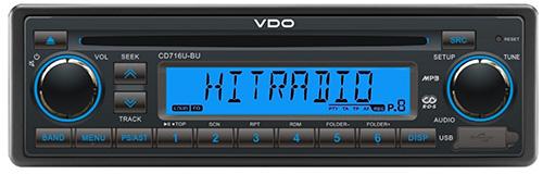 CD716U–BU VDO Radio