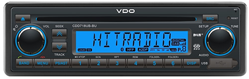 CDD718UB–BU VDO Radio