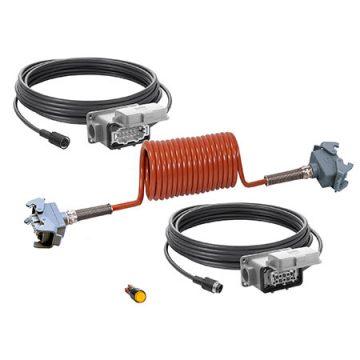 ORLACO Kabelset mit Spiralkabel